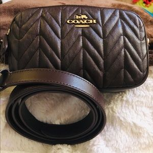 Coach Leather Convertible Belt Bag NWT's.